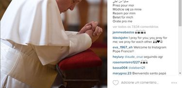 Papa Francisco estreia conta na rede social Instagram