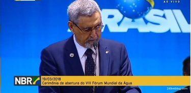 Jorge Carlos Fonseca, presidente de Cabo Verde, durante o Fórum Mundial da Água