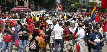 Rio de Janeiro – Manifestantes participam da 23ª edição do Grito dos Excluídos (Tânia Rego/Agência Brasil)