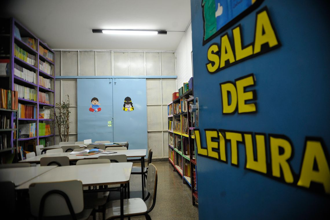 Sala de leitura da Escola Classe 305 Sul (Fabio Rodrigues Pozzebom/Agência Brasil)