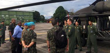 Missão da ONU que avalia tropas em missões de paz visita o Brasil