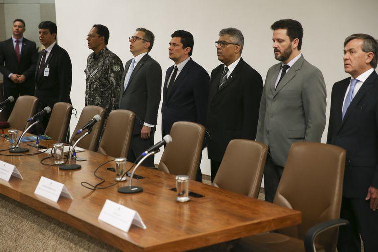 O ministro da Justiça e Segurança Pública, Sergio Moro, abre o 2º Encontro Nacional de Combate à Pirataria e a Crimes Correlatos