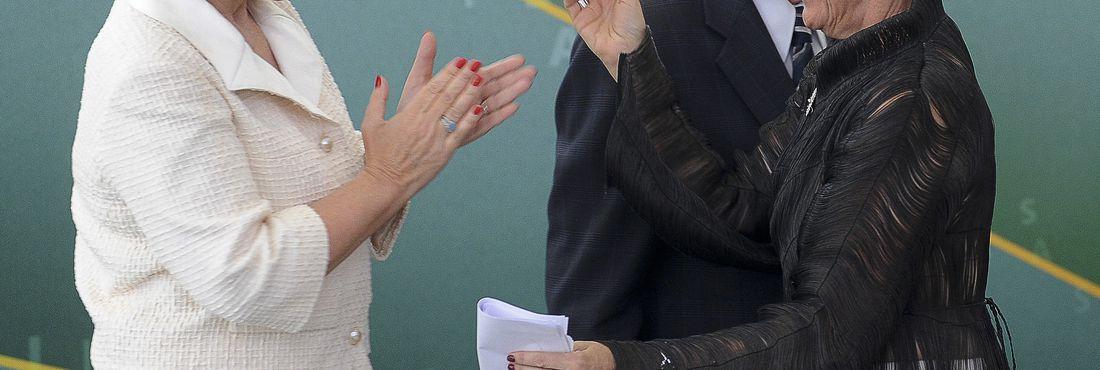 A ex-ministra da Cultura, Ana de Hollanda, durante cerimônia de posse de Marta Suplicy