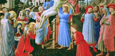 Deposição de Cristo, obra do pintor renascentista Fra Angelico