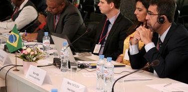 Mauro Maia e Rafaela Guerrante representam o Brasil na reunião sobre propriedade intelectual com membros do Brics