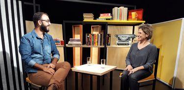 Raphael Monte bate um papo com a novelista Duca Rachid no Trilha de Letras