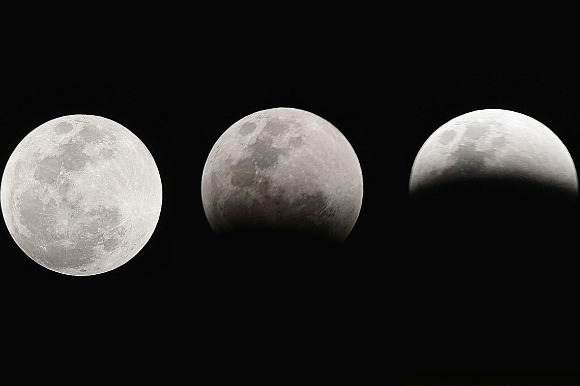 Brasília - O Clube de Astronomia promove um encontro de telescópios na Praça dos Três Poderes para observar a superlua e eclipse total lunar (Marcello Casal Jr/Agência Brasil)