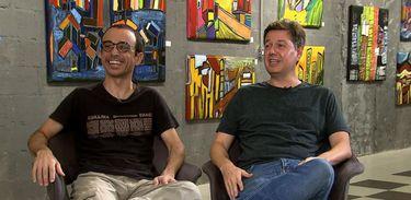 Victor Leal e Ricardo Pipo integram a Cia. Os Melhores do Mundo