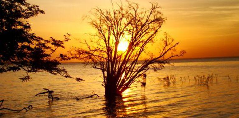 Natureza, pôr do sol, rio