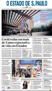 Capa do Jornal O Estado de S. Paulo Edição 2021-04-19