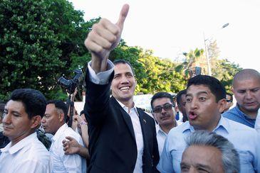O autodeclarado presidente da Venezuela, Juan Guaidó.