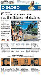 Capa do Jornal O Globo Edição 2020-04-05