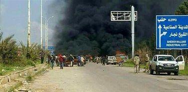 Explosão de carro-bomba perto de Aleppo, na Síria, deixa mais de 100 mortos (EFE/Direitos Reservados)