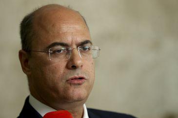 O governador eleito do Rio de Janeiro, Wilson Witzel, fala à imprensa após reunião com o presidente Michel Temer, Palácio do Planalto.
