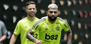 Soccer Football - Copa Libertadores - Flamengo Training - La Videna, Lima, Peru - November 21, 2019   Flamengo's Gabriel Barbosa during training   REUTERS/Guadalupe Pardo