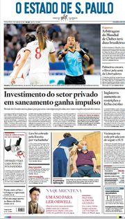 Capa do Jornal O Estado de S. Paulo Edição 2021-01-05