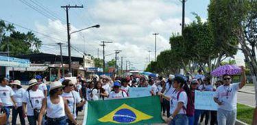 Protesto professores em Tabatinga,  SEDUC no Amazonas.