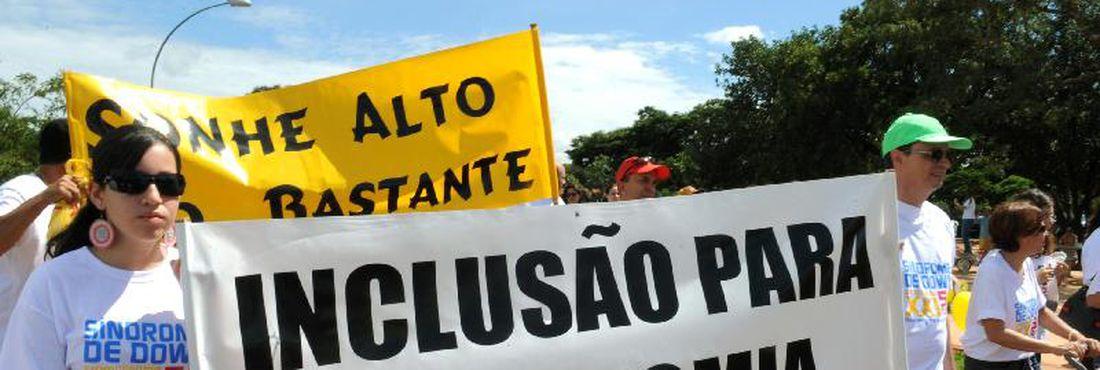 Caminhada em comemoração ao Dia Internacional da Síndrome de Down, no Parque da Cidade em Brasília
