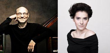 O pianista Andreas Staier e a maestrina Marzena Diakun