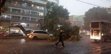 Forte tempestade de 20 minutos surpreende Belo Horizonte. Foto: Corpo de Bombeiros/Divulgação