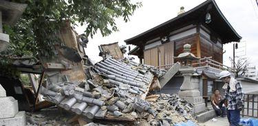 Terremoto no Japão causou danos e mortes