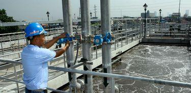 Centro de tratamento de água nas Filipinas