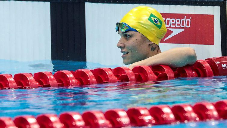 Carol Santiago está classificada para a final dos 100m livre S12. Foto: Alê Cabral/CPB
