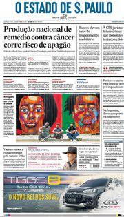 Capa do Jornal O Estado de S. Paulo Edição 2021-09-16