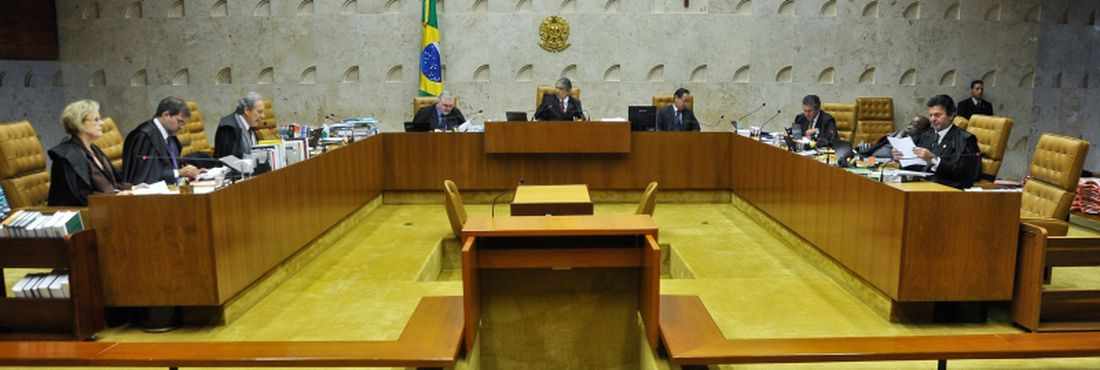 Sessão plenária no Supremo Tribunal Federal (STF) onde segue o julgamento do Mensalão