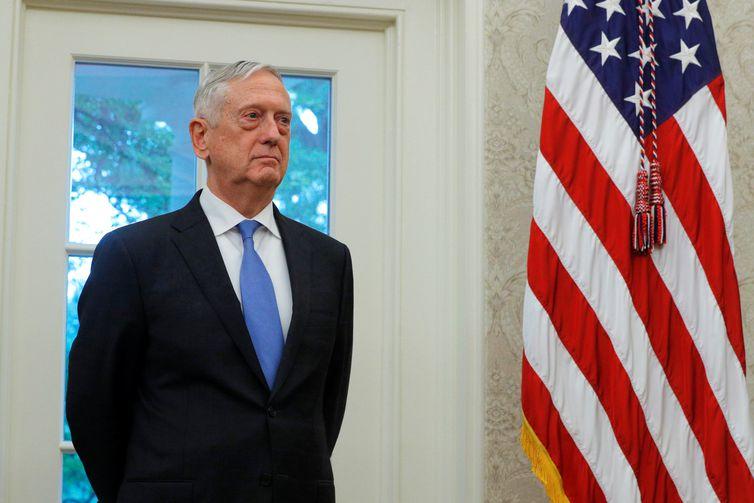 O secretário de Defesa norte-americano, Jim Mattis