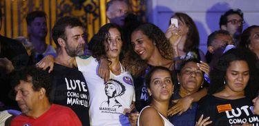 Companheira de Marielle em ato no Rio de Janeiro