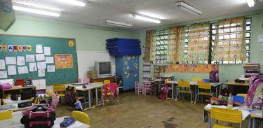 Sala de aula em escola pública