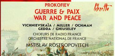 """Capa do CD da ópera """"Guerra e Paz"""", de Prokofiev"""