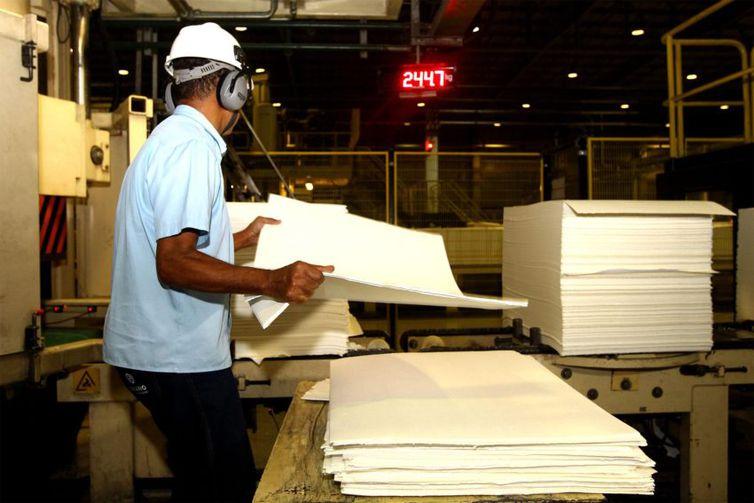 fábrica, indústria, sede da Suzano Celulose