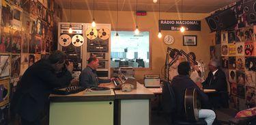 Estúdio-museu em comemoração aos 59 anos da Rádio Nacional AM de Brasília