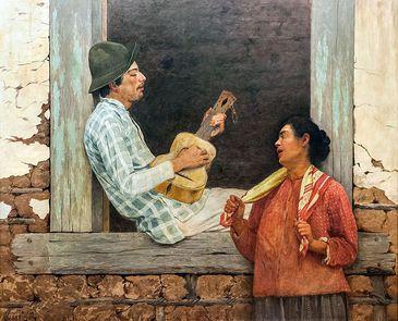 O Violeiro, pintura de José Ferraz de Almeida Junior