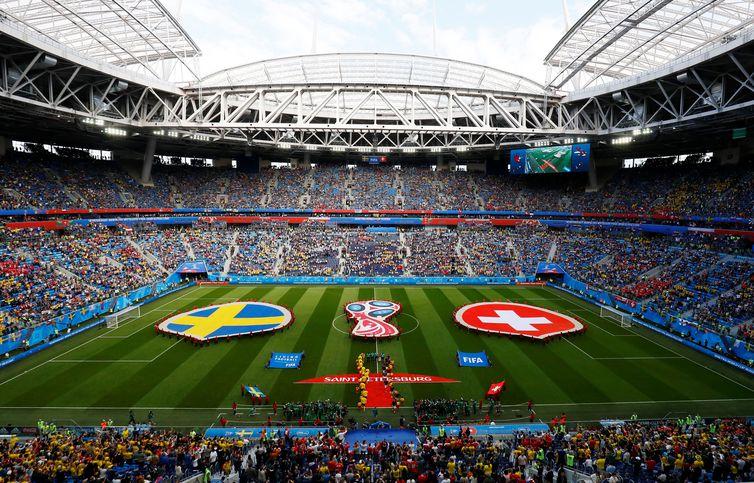 Copa 2018, Sissa e Suécia, início  REUTERS/Jason Cairnduff