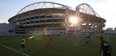 Treino do Botafogo no Engenhão