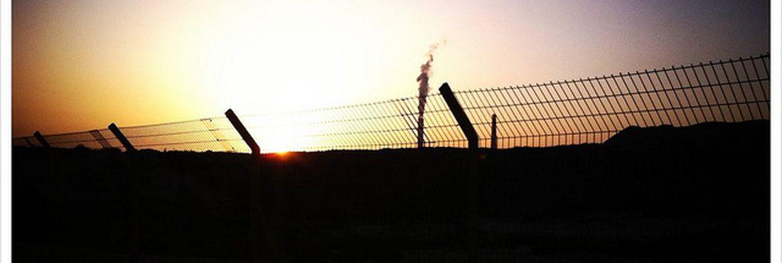 Por do sol na Faixa de Gaza