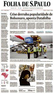 Capa do Jornal Folha de S. Paulo Edição 2021-01-23