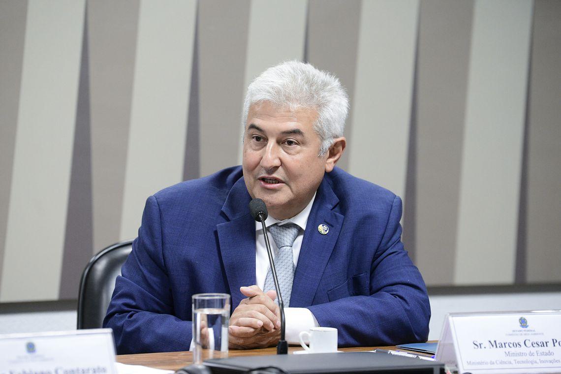 O ministro da Ciência e Tecnologia, Marcos Pontes, participa da audiência pública na Comissão de Meio Ambiente (CMA)