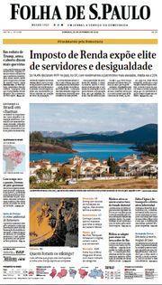 Capa do Jornal Folha de S. Paulo Edição 2020-09-20