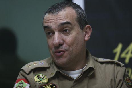 O comandante do 14º Batalhão da PM, Gildo Martins de Andrade Filho, diz que polícia trabalha com apoio da população de Jaraguá do Sul