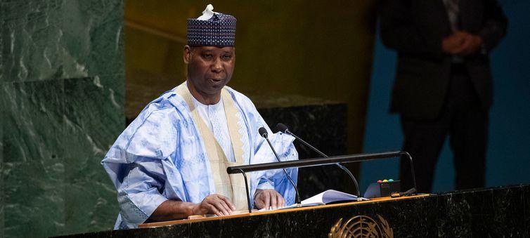Embaixador Tijjani Mohammad Bande, recém-eleito presidente da 74ª sessão da Assembleia Geral das Nações Unidas.