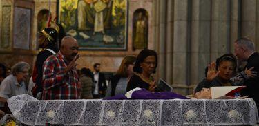 São Paulo - Velório de dom Paulo Evaristo Arns na Catedral Metropolitana de São Paulo, na Sé, região central da cidade (Rovena Rosa/Agência Brasil)