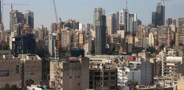 Vista de Beirute, capital e maior cidade do Líbano