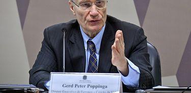 O ex-diretor da área de Ferrosos e Carvão da empresa Vale, Gerd Poppinga, foi ouvido pelos integrantes da CPI de Brumadinho, no Senado.