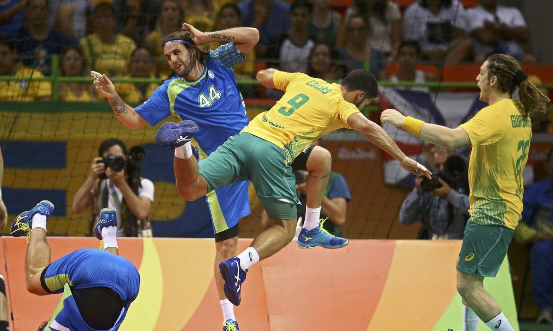 Depois de estrear com vitória sobre a forte seleção polonesa, o time de handebol masculino do Brasil sofreu sua primeira derrota na Rio 2016, para a Eslovênia