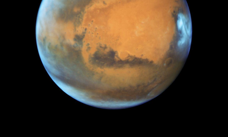 Vista de Marte pelo telescópio Hubble, da Nasa