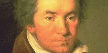 Compositor alemão Ludwig van Beethoven em pintura de 1815